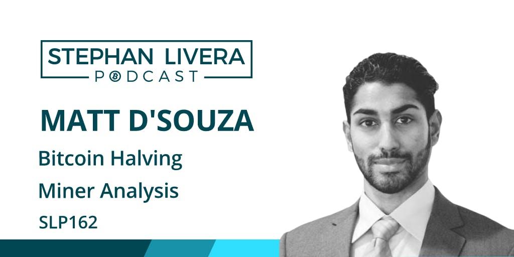 Matt D'Souza Bitcoin halving
