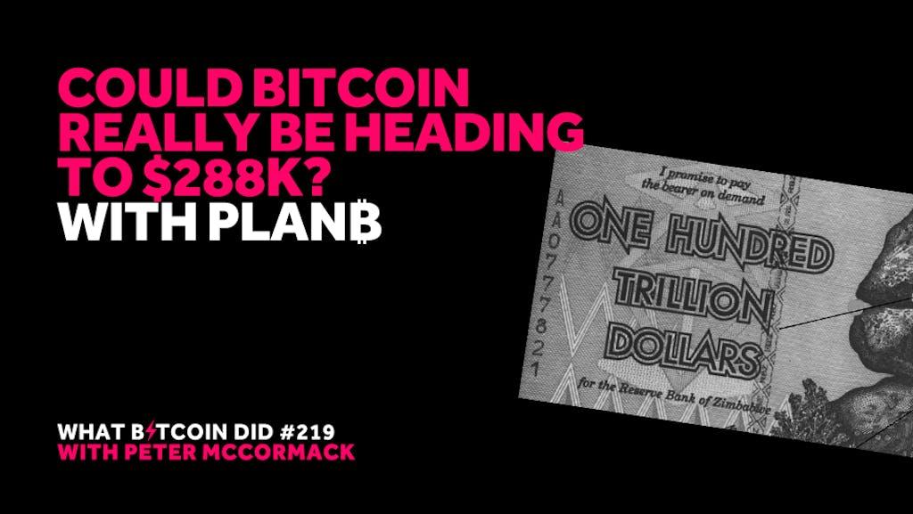 PlanB - Peter McCormack - Bitcoin